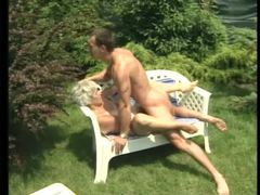 Granny banged outdoors in the sun movies at sgirls.net