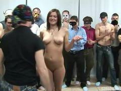 Busty girl at czech gang bang party movies at kilosex.com