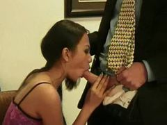 Asian in a dress sucks his cock in office tubes at thai.sgirls.net