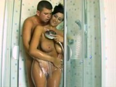Couple showers and sensually fondles videos