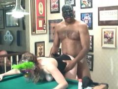 Interracial amateur orgy around the pool table videos