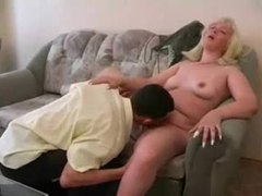 Fat blonde fucked by young skinny guy videos