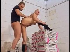 Mature gal bends over for construction worker movies at sgirls.net
