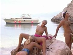 Boat captain fucks three sluts on a beach movies at find-best-lesbians.com