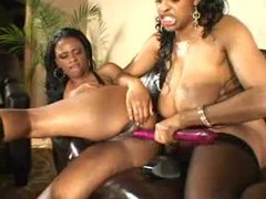 Chubby black lezzies with toys get it on movies at sgirls.net