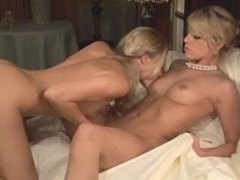 Erotically charged lesbian strapon sex scene videos