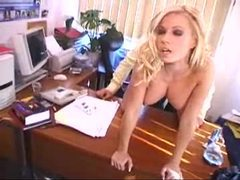 Long blonde hair girl anal sex in office movies at sgirls.net