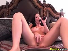 Hot babe with huge rack dildo masturbate hd videos