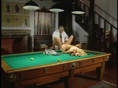 Girl watches a slut get fucked on the pool table movies