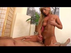 Sweet lubed up handjob with a sexy blonde movies at kilopics.net