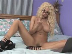 Gina lynn masturbates and gives handjob videos