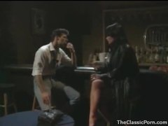 Dude goes down on a hottie in the bar movies at kilopills.com