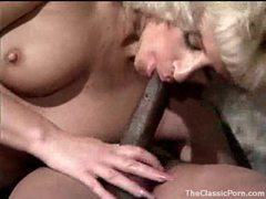 Hairy pussy on a sexy retro blonde takes bbc movies