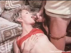 Hot slut in stockings and garters blows him videos