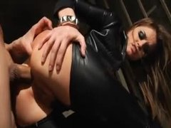 Head to toe leather for super hot tori black videos
