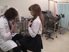 Asian girl visits the doctor for an exam tubes at chinese.sgirls.net