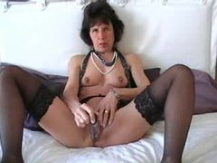 Mature in sexy black stockings toys pussy movies at kilopics.com