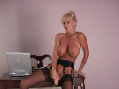 Milf has an incredible pair of fake tits videos
