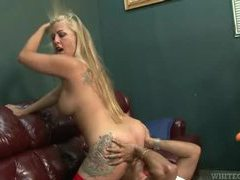 Lustily eating out a big ass blonde milf movies at sgirls.net