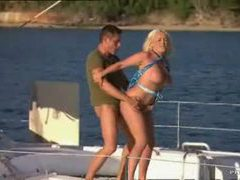 Busty slut fucked on a boat on the water videos