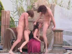 Two men fuck a british lass outdoors movies at sgirls.net