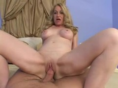 Blonde mature takes his cock in pov movies