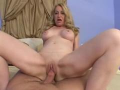 Blonde mature takes his cock in pov videos
