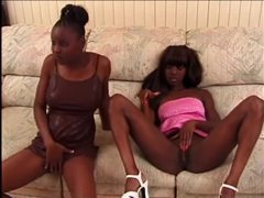 Black chicks masturbate and blow white guy movies at kilogirls.com