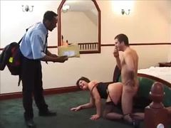 Black guy joins in on the milf fucking videos