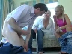Two clothed british ladies abuse and humiliate him videos