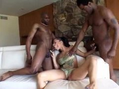 Curvy temptress banged by black cocks videos
