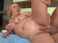 Chubby mature is a fiend for big cock clip