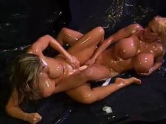Lesbians covered in oil lick and toy movies at find-best-videos.com