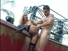 Stockings blonde slut fucked outdoors videos