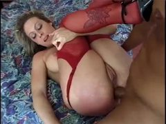 Lusty lingerie blonde is in love with anal videos