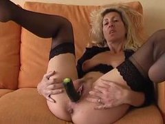 Milf shoves vegetables in her pussy movies at kilopills.com