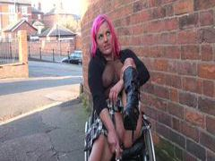 Wheelchair bound leah caprice in uk flashing movies at sgirls.net