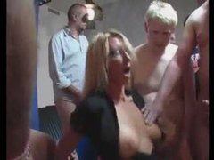 Milf in glasses in huge gangbang videos