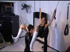 Sex swing dildo fucking with latex couple movies at freekiloporn.com