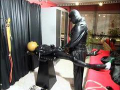 Kinky latex and leather play in dungeon videos
