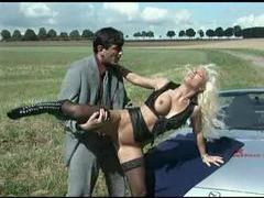 Parked in a field he fucks a hot blonde movies at sgirls.net