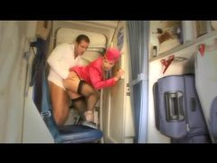 Hot stewardess anal sex on a plane videos