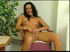 Striptease from dress shows shaved pussy movies at kilopics.net