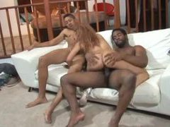 Two dicks for black chick with hot body movies at find-best-pussy.com