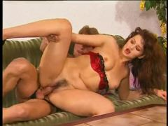 Hairy cunt german girl in lipstick nailed movies at lingerie-mania.com
