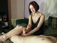 Hot amateur redhead in handjob compilation clip