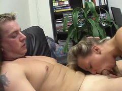 Blonde cocksucker nailed on the couch videos