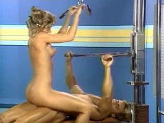 Retro gym sex with pussy licking tubes