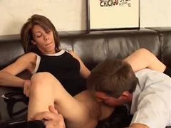 Horny shaved brunette humped on couch movies at find-best-hardcore.com