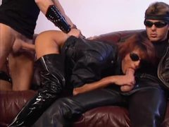 Double fisting and hot leather sex videos